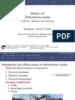 Deformations Axiales