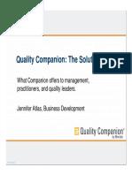 Quality Companion the Solution