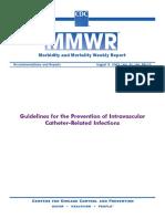 Guidelines Prevention Intravascular Catheter