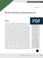 Desindustrialização PRECOSE Brasileira - Texto 02