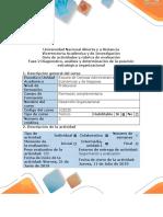 Guía de actividades y rúbrica de evaluación - Fase 2 - Diagnóstico, analisis y determinacion de la posicion estrategica organizacional GUIA 2.docx