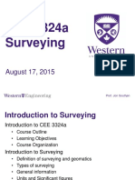 Surveying CEE 3324a - Lecture 1 - Introduction