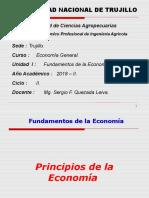 UNIDAD I - Fundamentos de La Economía - Ing. Agrícola