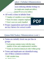 Tabular Minimization
