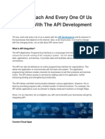Till Now, Each and Every One of Us is Aware With the API Development