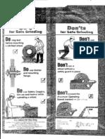 (2) Bench Grinder Picture Safety Precaution