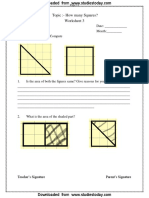 CBSE Class 5 Maths Worksheet-How Many Squares (3)