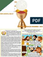 HOJITA EVANGELIO NIÑOS EL SANTÍSIMO CUERPO Y SANGRE DE CRISTO C 19 COLOR
