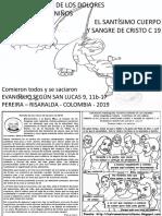 HOJITA EVANGELIO NIÑOS EL SANTÍSIMO CUERPO Y SANGRE DE CRISTO C 19 BN