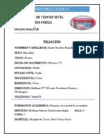 Historia Clinica ulcera