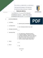 GRUPO 3 - LA ÉTICA Y LA ACTIVIDAD EMPRESARIAL - LAS DECISIONES EMPRESARIALES Y LA ÉTICA.docx