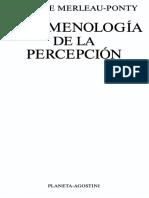 Maurice Merleau-Ponty - Prólogo - Fenomenología de La Percepción