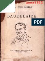 Sartre, Jean-paul - Baudelaire [Por Ganz1912]
