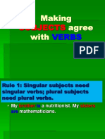Subjects Verbs