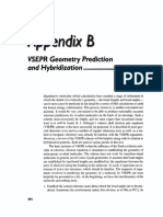 Vsepr Geometry Prediction and Hybridization 1993