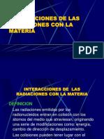interacion de la radiacion con la materia