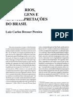 Bresser Pereira (1994) Empresários, Suas Origens