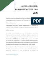 URBANISMO Y CONDICIONES DE VIDA