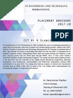 2017-2018 Placement Brochure CET B
