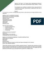 Clase 1 Desarrollo de La Cirugia Refractiva