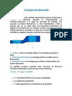 Principio de Bernoulli-mecanica de Fluidos