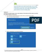 Display Recovery SOP