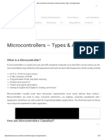 Microcontrollers Introduction, Microcontrollers Types and Applications