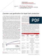 Consider Coal Gasification for Liquid Fuels Production