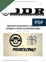 Ejercicios Propuestos y Resueltos Arreglos o Arrays en Pseudocódigo _ Disco Duro de Roer