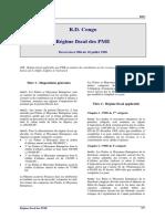 RDC Regime Fiscal Des PME