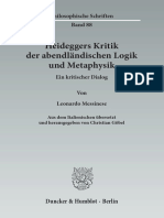 Heideggers Kritik an Logik Index