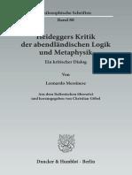 Heideggers Kritik an Logik Index