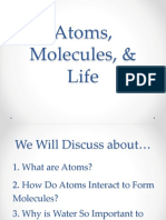 Chapter2Atoms, Molecules, & Life