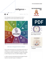 9 Types of Intelligence - Infographic