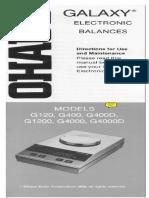 Ohus g4000 Manual