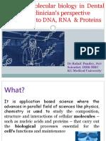 Advanced molecular biology in Dental Research