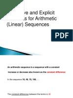 Arithmatic Sequences