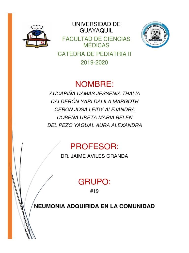 Tratamiento neumonia pediatria pdf 2020