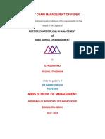 SUPPLY CHAIN MANAGEMENT OF FEDEX.docx
