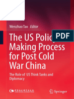 (E-Book) The US Policy Making Process for Post Cold War China The Role of US Think Tanks and Diplomacy-Springer.pdf