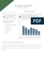 BrainHealthAssessment Report