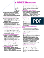 12 Stages- Study Plan for Public Administration