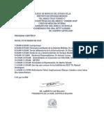PROGRAMA III Curso de Actualización en Diabetes Mellitus