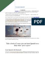 5 Fun Ways to Learn Spanish