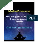 MahaDharma ।। the Religion of Human Development
