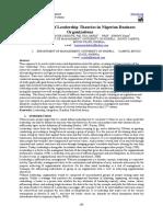 Application of leardership theories in Nigerian Organization.pdf