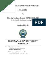 b.sc.Agriculture (Hons.)(Cbes) 2019-20