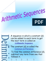 Arithmetic Sequences and Examples