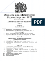 Domicile and Matrimonial Proceedings Act, 1973
