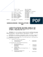 Cabadbaran SP  Resolution No. 2009-64